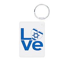 Israeli Blue LOVE Keychains