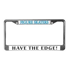 Figure Skaters Have the Edge! License Plate