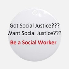 Social Justice Ornament (Round)
