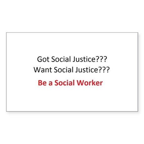 Social Justice Sticker (Rectangle)