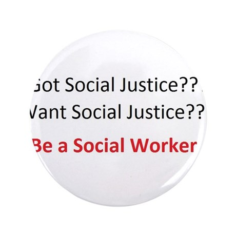 "Social Justice 3.5"" Button"