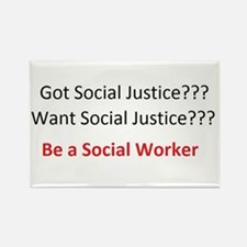 Social Justice Rectangle Magnet