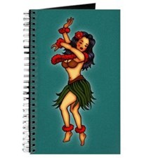 Retro Hula Tattoo Art Journal