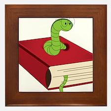 Bookworm Framed Tile