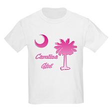 Pink and White Carolina Girl 2 T-Shirt