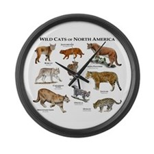 Wildcats of North America Large Wall Clock