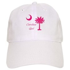 Hot Pink Carolina Girl Baseball Cap