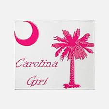 Hot Pink Carolina Girl Throw Blanket