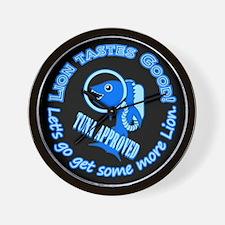 Lion Tastes Good Tuna Wall Clock