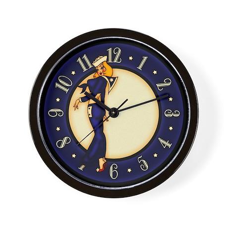 Pinup Girl Sailor Wall Clock