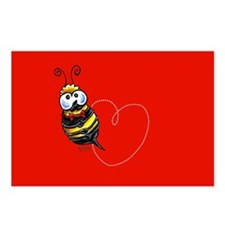 Bee n Heart i Love You Postcards (Package of 8)