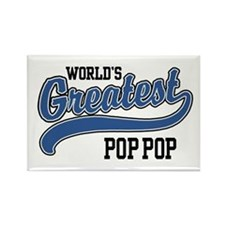 World's Greatest Pop Pop Rectangle Magnet