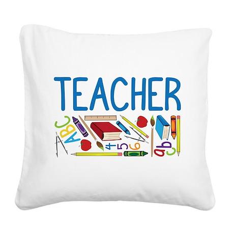 Teacher Square Canvas Pillow