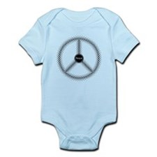 Peace / Paz / Frieden / Pax (black) Infant Bodysui