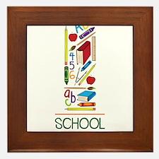 School Days Framed Tile