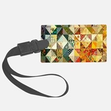 Fun Patchwork Quilt Large Luggage Tag