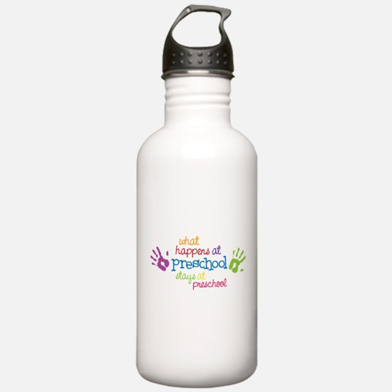 Stays At Preschool Sports Water Bottle