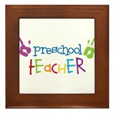 Preschool Teacher Framed Tile