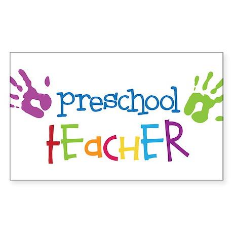 Preschool Teacher Sticker (Rectangle)