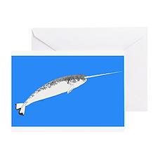Narwhal whale bbg Greeting Card