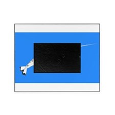 Narwhal whale bbg Picture Frame
