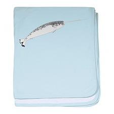 Narwhal whale bbg baby blanket