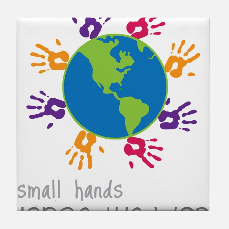 Small Hands Tile Coaster