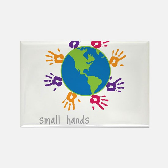 Small Hands Rectangle Magnet
