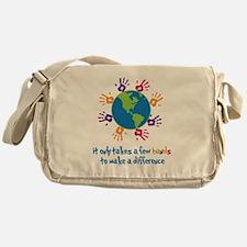Make A Difference Messenger Bag