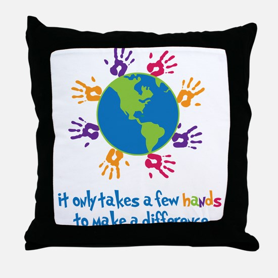 Make A Difference Throw Pillow
