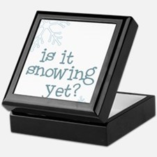 Is It Snowing Yet Keepsake Box