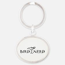Birdwatching Oval Keychain