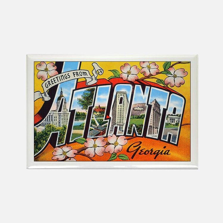 Atlanta Georgia Greetings Rectangle Magnet