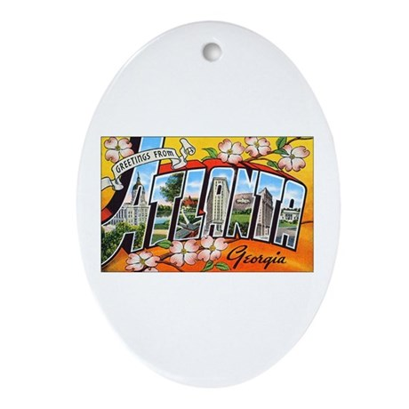 Atlanta Georgia Greetings Oval Ornament