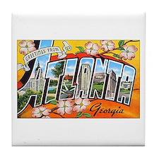 Atlanta Georgia Greetings Tile Coaster