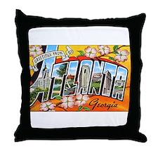 Atlanta Georgia Greetings Throw Pillow