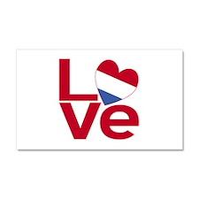Netherlander Red LOVE Car Magnet 20 x 12