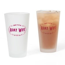 Proud Army Wife Drinking Glass