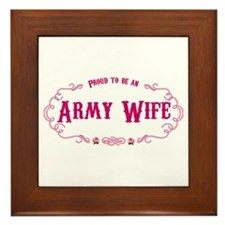 Proud Army Wife Framed Tile