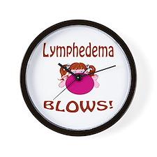 Lymphedema Blows! Wall Clock