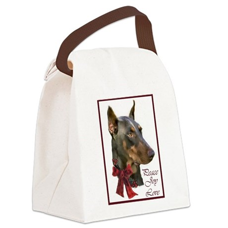 Doberman Pinscher Canvas Lunch Bag
