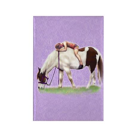 Backyard Horse Full Rectangle Magnet