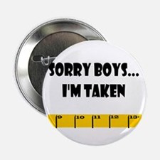 Ruler Sorry Boys Button