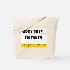 Ruler Sorry Boys Tote Bag
