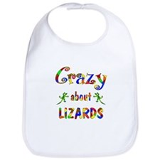 Crazy About Lizards Bib