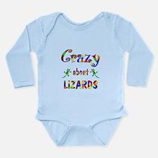 Crazy About Lizards Long Sleeve Infant Bodysuit