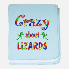 Crazy About Lizards baby blanket