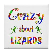 Crazy About Lizards Tile Coaster