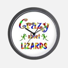 Crazy About Lizards Wall Clock