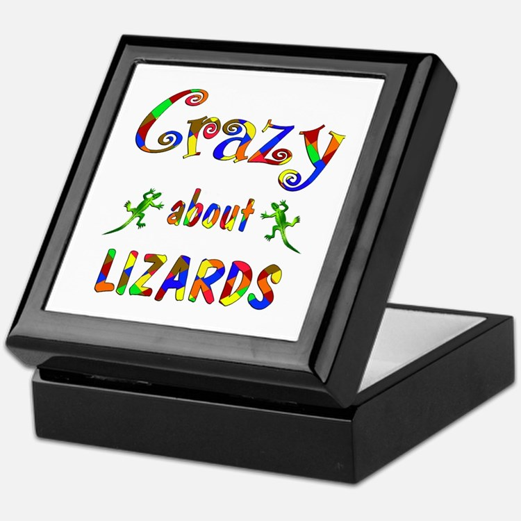 Crazy About Lizards Keepsake Box